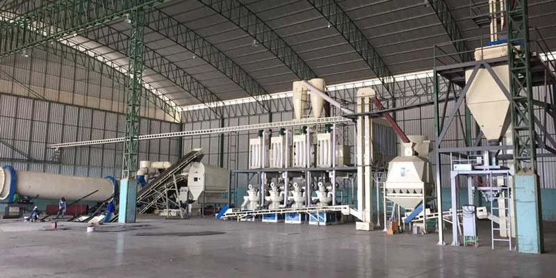6 T/H wood pellet production line in Thailand