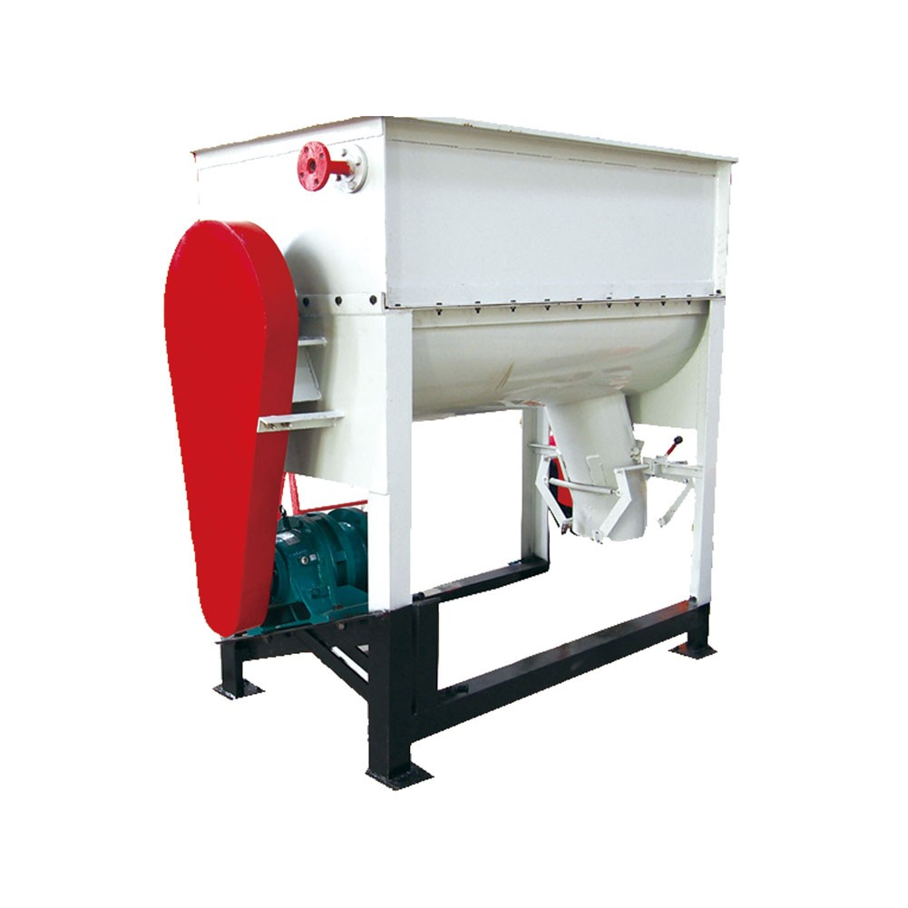 Single shaft animal feed mixer